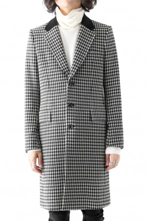 CHECK JACQUARD COAT