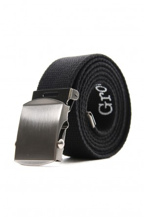 Ground Y 19-20AW GI belt with logo Black