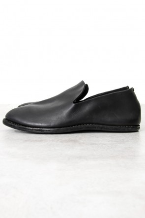 Guidi Classic Leather Slip on - Black