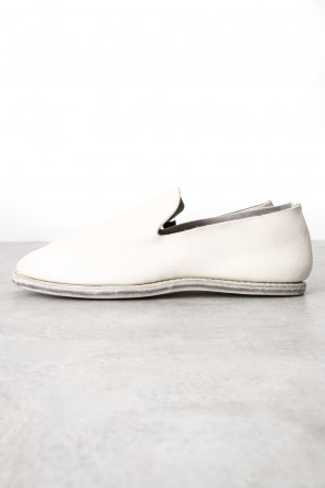 Guidi Classic Leather Slip on - Dirty White
