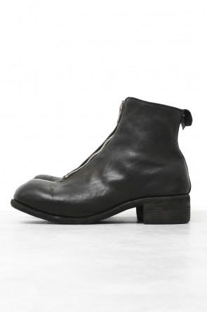 Front Zip Boots Double Sole - Horse Full Grain Leather - Guidi