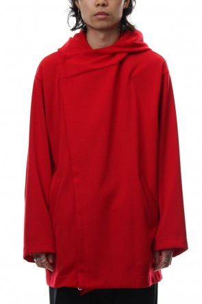 Ground Y 18-19AW Double Hoodie - Red