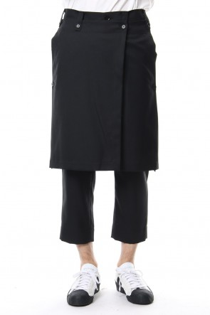 Ground Y18-19AWTuck Pants Wiith Skirt