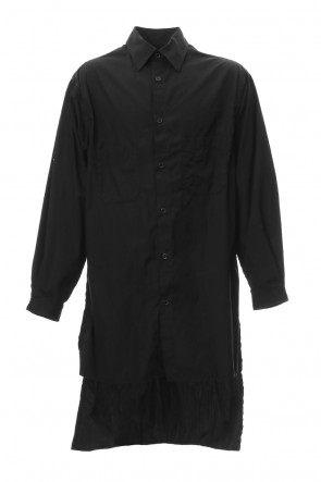 Yohji Yamamoto 19SS Ring sewing Washed Long Back Body Blouse
