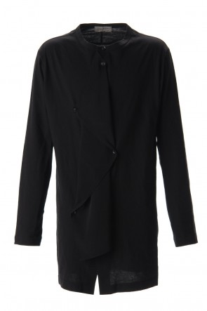 Yohji Yamamoto 20SS Jersey fabric mix Switching Dress shirt Black