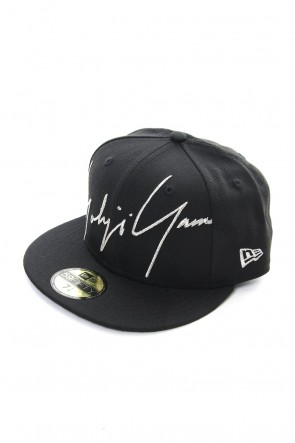 Yohji Yamamoto 18-19AW NEW ERA 59 FIFTY Zoom Up Signature Logo Black
