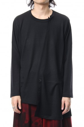 Yohji Yamamoto 18-19AW Diagonal switch long sleeve 2/48 washable wool