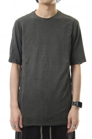 DEVOA19SSShort sleeve Japanese paper jersey Products dyed - Charcoal