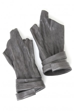 Horse Leather Strap Fingerless Gloves