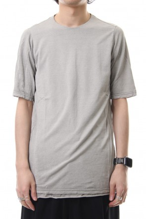 DEVOA19SSShort sleeve Japanese paper jersey Products dyed - White Gray
