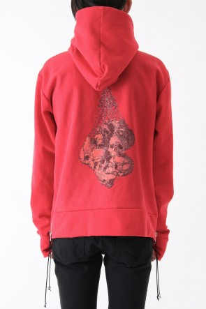 CAVIALE17SS17SS OVERSIZED HOODIE RED