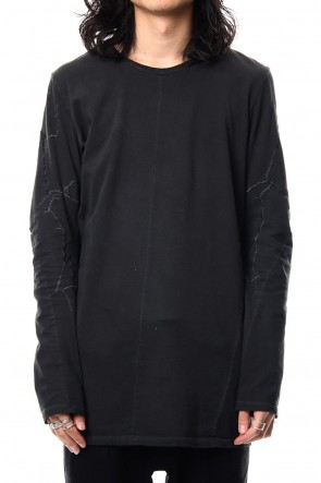 SADDAM TEISSY19SSCold Dye High Gauge India Embroidery Long Sleeve T-shirt - ST101-0069S