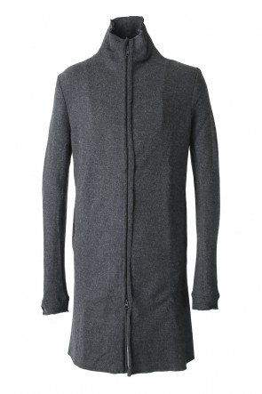 Hannibal 17-18AW Knitted Coat Filip Wool Slate