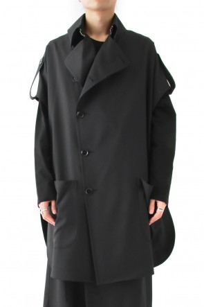 Ground Y 18SS Cape Coat Double Serge