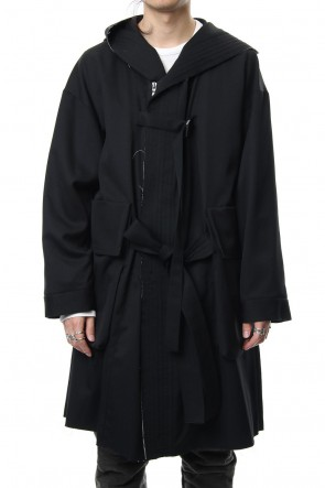 The Viridi-anne 18-19AW Wool gabardine coat