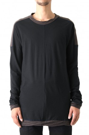 80/- Plain Stitch Twisted Dolman Long Sleeve T-Shirt