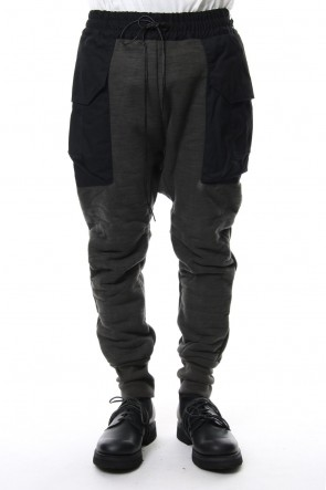 The Viridi-anne 18-19AW Heavy Pile Boa Pants Ink
