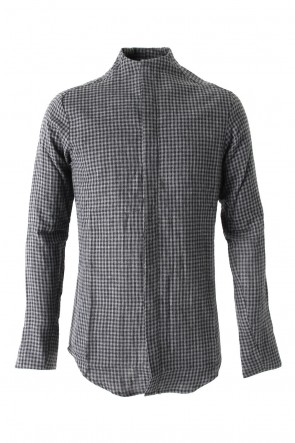 Hannibal 17-18AW Shirt Jalmar Anthracite Checked Cotton