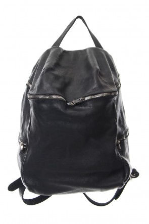 Guidi 18SS Soft Horse Leather Back Pack - DBP08 - BLACK
