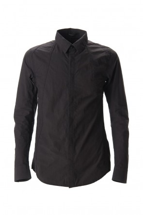 D.HYGEN 20SS Light Typewriter Buckling Shirt Black