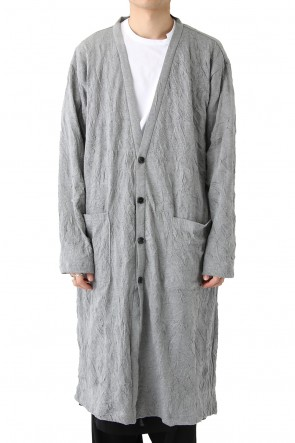 Ground Y 18SS Long Cardigan C/E Washer Plain Stitch Fabric