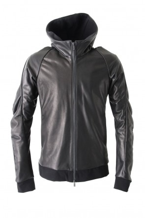 Hooded Jacket Stretch Deer Leather