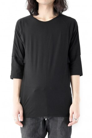 SADDAM TEISSY 18SS 80/- Plain Stitch Layered Dolman T-Shirt