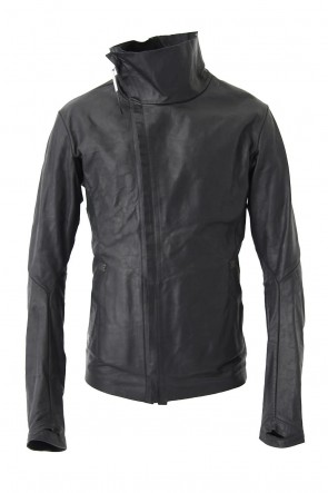 ISAAC SELLAM 18SS High Neck Leather Jacket  - IMPARABLE-VACHKIRI