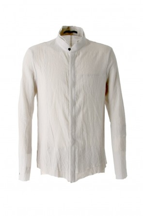 SADDAM TEISSY18SSSilk Cotton Cut Off Shirt FASCINATE Exclusive Dusty White
