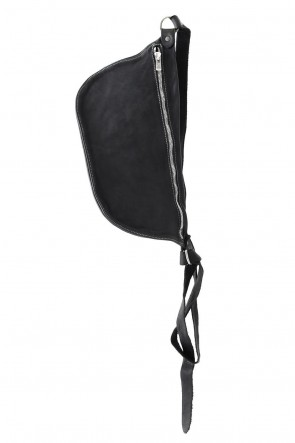 Guidi 19SS Body Bag Soft Horse Full Grain - Q10 - BLACK