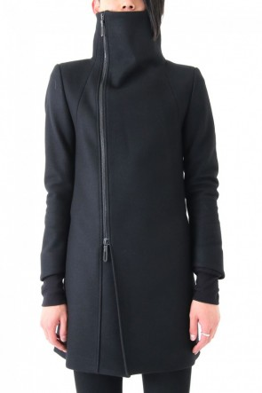 GalaabenD17PS17PS 60/1 Compressed Seed Stitch High Neck ZIP Coat