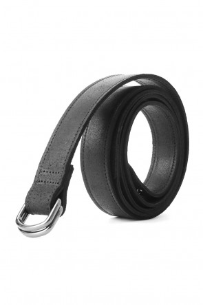 Velour Leather Long Belt