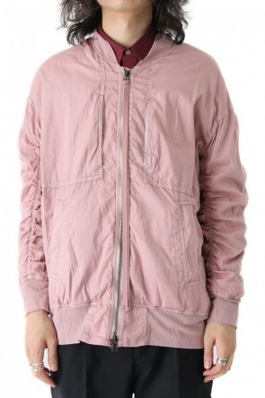 Pigment dyed flight jacket PINK GRAY