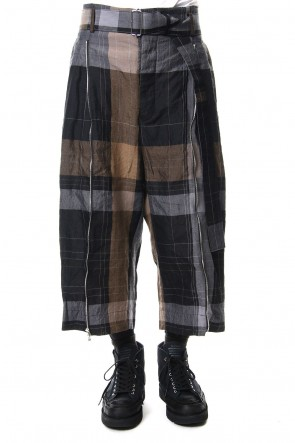 The Viridi-anne 19SS Check Hakama Pants