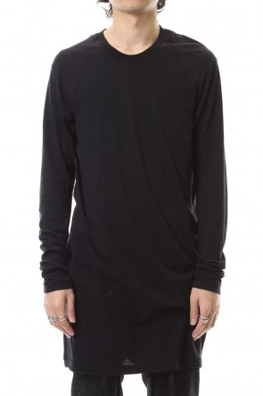 11 BY BORIS BIDJAN SABERI 19-20AW Raglan Long Sleeve T-Shirts Black