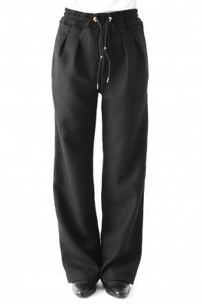 WOOL BOTANY WIDE TROUSERS