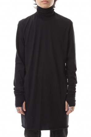 11 BY BORIS BIDJAN SABERI 19-20AW Turtle Neck Long Sleeve T-Shirts Black