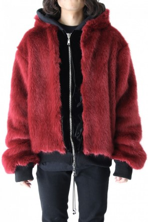 CAVIALE 19-20AW Fur Lined Reversible Hoodie