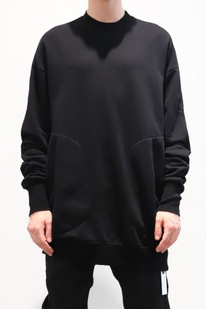 JULIUS 19-20AW BIG SWEATSHIRT JACKET Black