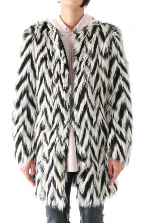 GRAPHIC FUR COAT