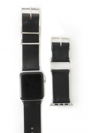 iolom Classic Apple Watch Band - Guidi Cordovan - Silver Type 2