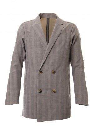 DEVOA 19SS Double breasted jacket cotton glen check