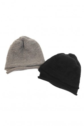 The Viridi-anne19-20AWDANIEL ANDRESEN collaboration Knit cap - Charcoal / Ice