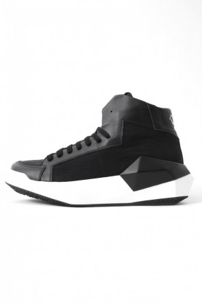 CINZIA ARAIA 17SS 17SS DYAMONT Geometric Leather Sneaker CALF×NYCER / BLACK