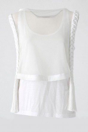 Braid LAYERED TANKTOP - SATOKO OZAWA