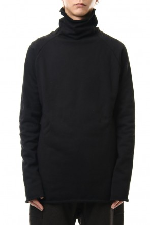 WARE 19-20AW Cotton Sweat Bottle Neck T-Shirts Black