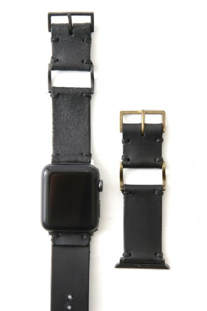 iolom Classic Apple Watch Band - Guidi Calf Reverse Leather - Brass Type 1