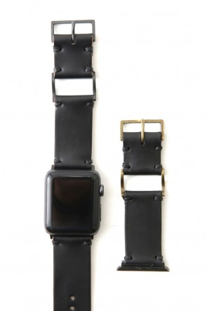 iolom Classic Apple Watch Band - Guidi Cordovan - Brass Type 1