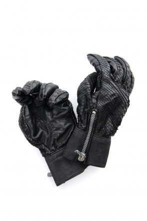 SADDAM TEISSY 18-19AW Python×Horse leather glove