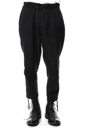 SADDAM TEISSY 19SS Linen tack tapered cropped pants - ST107-0049S